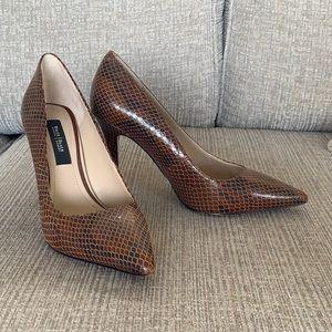 White House black market brown heels